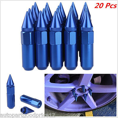 Azul Sickspeed Lug NUTS 60//90mm spiked m12x1.5 tuercas de rueda 4er
