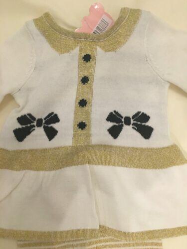 baby babies babys dresses girl GIRLS DRESS 2 piece cream gold 0-24 m XMAS PARTY