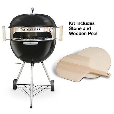 KettlePizza Deluxe Kit - Wood Fired Pizza Oven Kit for 18.5 & 22.5 Kettle Grills