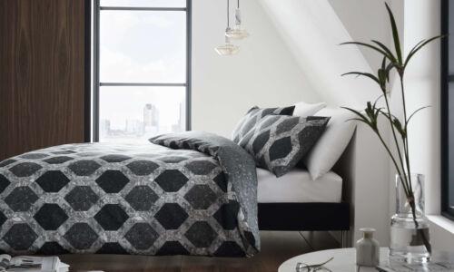 Double Et King Marbre Deco Noir ensemble de couette disponible en Simple