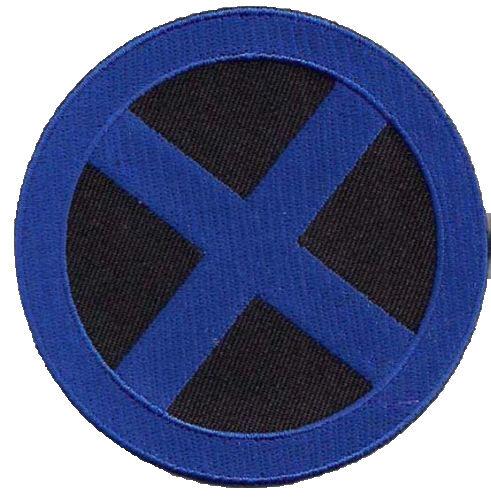 blau schwarz Uniform Patch  Aufnäher X-MEN Blue//Black Logo
