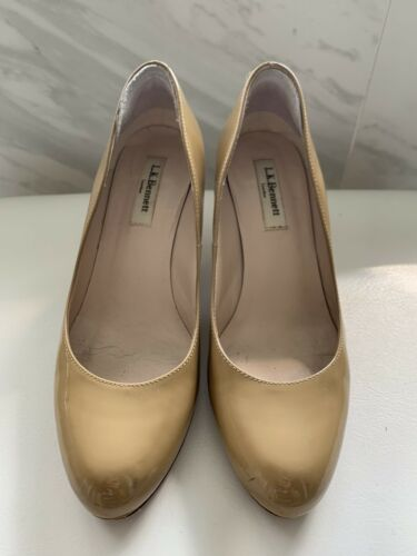 LK Bennet Nude Patent Leather Pumps