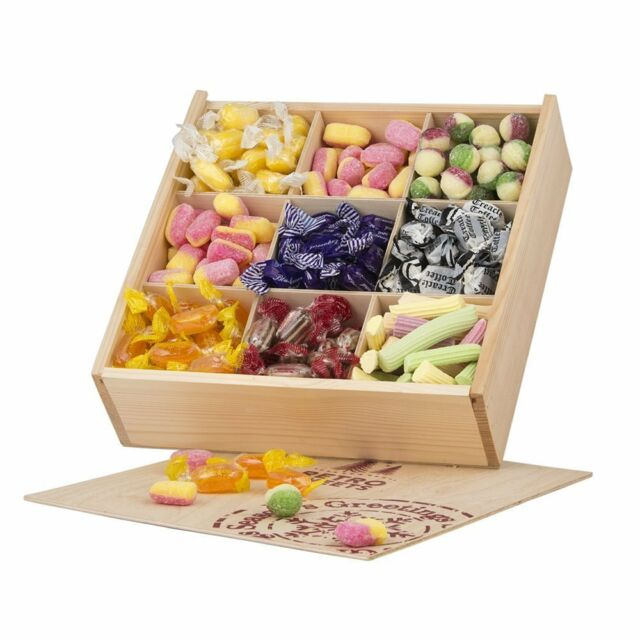 Pleasing Retro Sweets 7 Varieties Wooden Crate Dessert Table Individual Wrapped Nostalgic Complete Home Design Collection Barbaintelli Responsecom
