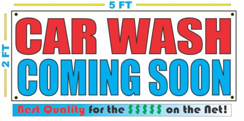 CAR WASH COMING SOON Banner Sign NEW Larger Size