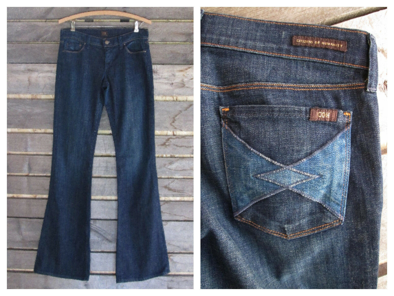 COH Citizens of Humanity by Jerome Dahan Ingrid Low Waist Flare Jeans Size 27