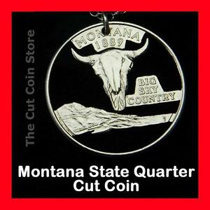 Montana-Big-Sky-Country-25-Quarter-Cut-Coin-Necklace-MT-Treasure-State-Jewelry