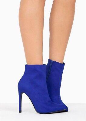 Blue Heel Boots