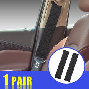 Vipithy 2X Car Auto Faux Wool Fur Warm Cintura di Sicurezza per Cintura Cintura di Sicurezza per Imbracatura Nero