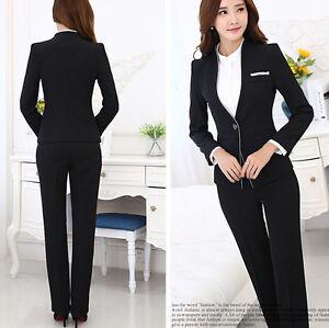6f7538898e30 Caricamento dell immagine in corso Elegante-Tailleur-completo-donna-nero- giacca-manica-lunga-