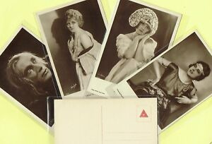 ROSS-VERLAG-1920s-Film-Star-Postcards-produced-in-Germany-533-to-570