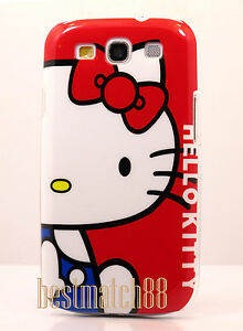 for-Samsung-galaxy-s3-case-white-face-red-bow-cute-hello-kittty-i9300-S-III