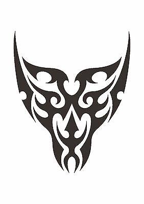 350 micron Mylar not thin stuff  #TaT0051 Tribal Wings stencil