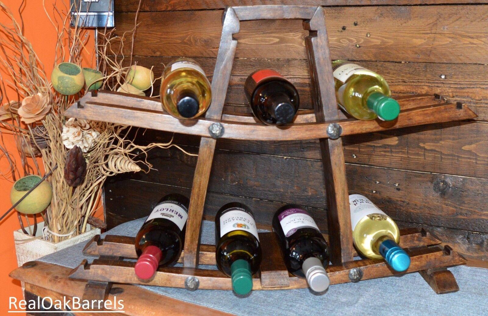 Chêne Solide Whiskey Barrel, Rustique, Meuble Porte Bouteille Vin, Meilleur