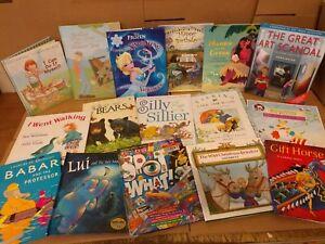 Lot-of-20-ALL-HARDCOVER-Children-Reading-Books-Bedtime-Story-Time-RANDOM-Kid-MIX