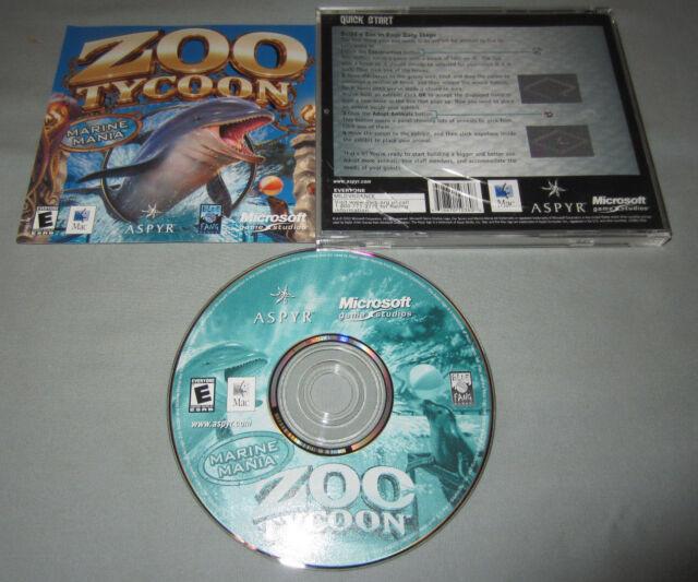 Zoo Tycoon Marine Mania Expansion Apple Mac Macintosh Aspyr Video Game VERY  RARE