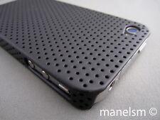 Funda Carcasa Perforada para Iphone 4 y 4S Negra / Negro