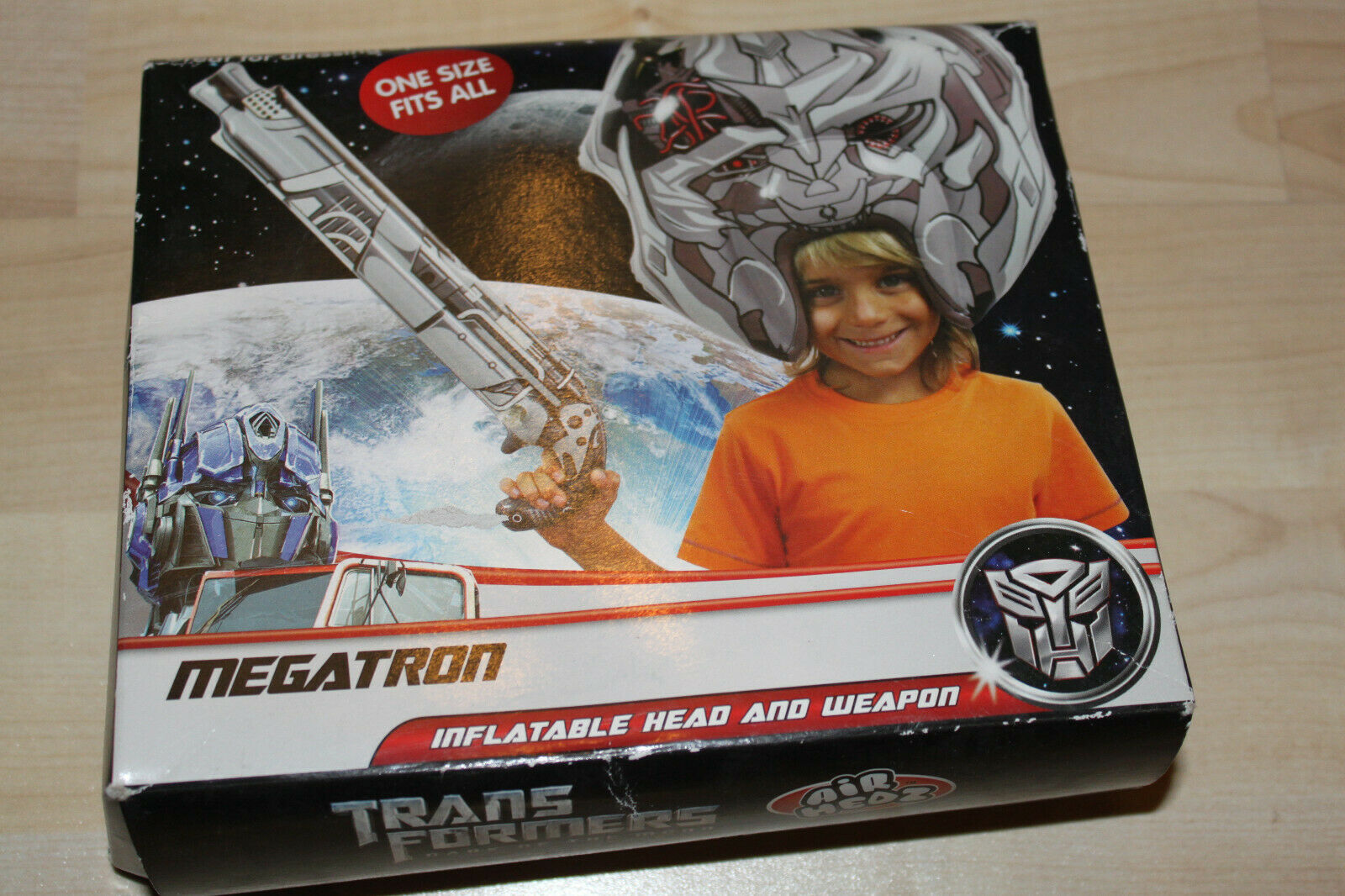 Extremely Rare Airheadz Transformers megatron inflatable head and weapon