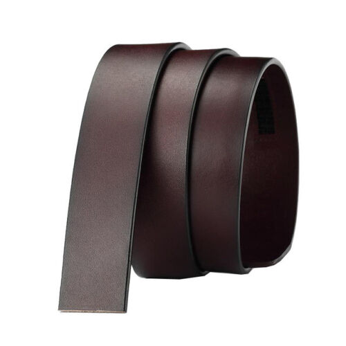 Fashion Men/'s Automatic Real Leather Ratchet Belt Strap Jeans Waistband Gift