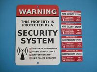 Home Security Alarm System Yard Sign & 4 Window Stickers - Stock 704