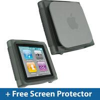 Black TPU Gel Case for Apple iPod Nano 6th Gen Generation 6G Skin Cover Holder