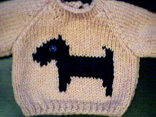 Scottish Terrier Dog Sweater Handmade for 16 inch Cabbage Patch Made in USA