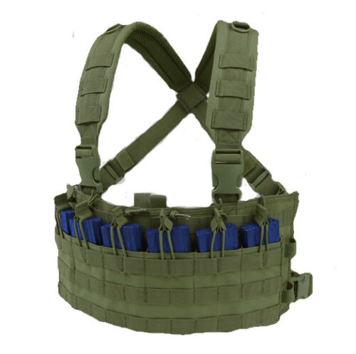 CONDOR-MOLLE-Nylon-Rapid-Assault-Rifle-Mag-Holder-Chest-Rig-mcr6-OLIVE-OD-Green