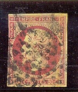 FRANCIA-YT-1853-60-N-17Ac-USADO