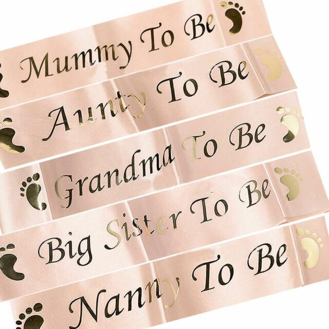 Newborn Party Decoration Birthday Decor Footprint Boy Girl Mom Favor Gift Sash