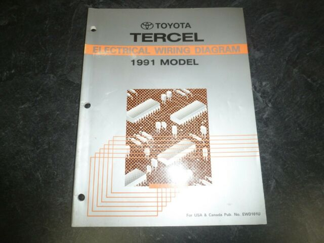 1991 Toyota Tercel Coupe Sedan Electrical Wiring Diagrams Manual Deluxe Dx Le