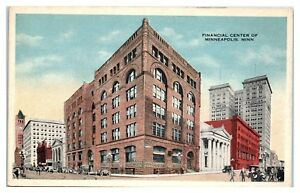 Early-1900s-Financial-Center-of-Minneapolis-MN-Postcard