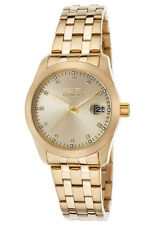 New Womens Invicta 21492 Wildflower 18k Gold Ion-Plated Stainless Steel Watch