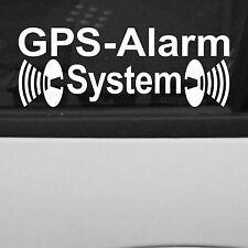 2 Stück GPS Alarm System weiß Aufkleber Tattoo Folie gespiegelt für Innenseite