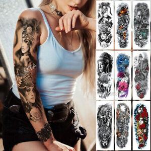 c1c064849 1 x Large Temporary Body Art Arm Tattoo Sticker Sleeve Men Women ...