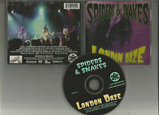 SPIDERS & SNAKES - London daze CD RARE Sansei records 1999 HARD GLAM ROCK Foxx