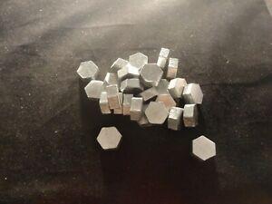 ZINC  hexagon 1 POUND -not stamped--UNIQUE -99.9% PURE-
