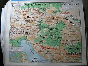Antique-Card-School-Vidal-Lablache-States-Danube-Danube-No-No-32-Poster-Deco