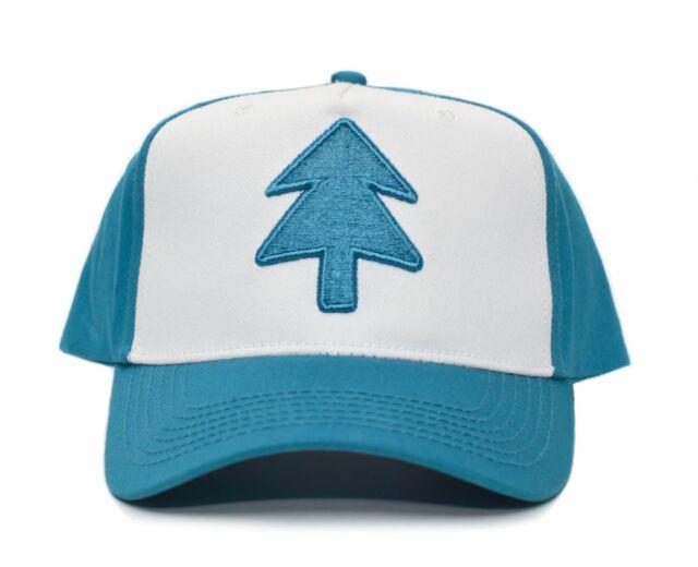 Aqua Embroidered Dipper Gravity Falls New Curved Bill BLUE PINE TREE Hat Cap  TV fd52c3e40f6