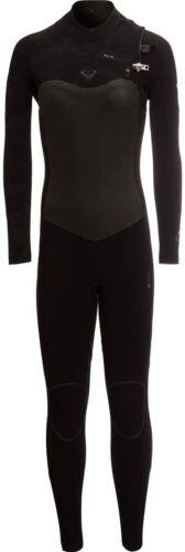 NWT $250 ROXY Womens 3//2mm Satin Chest Zip Wetsuit ERJW103037 Black Size 2-14