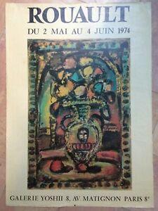 ROUAULT 1974 AFFICHE ORIGINALE EXPOSITION GALERIE YOSHI PARIS