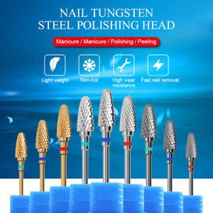 Nagel-Bohrer-Wolfram-Stahlkopf-Elektrisches-Schleifen-Nail-Art-Polishing-Tool
