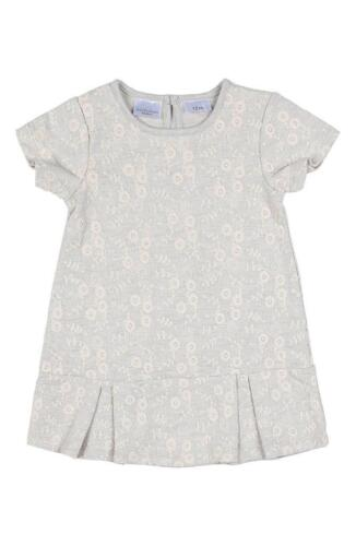 Kardashian Kids Girls Baby Light Blue Drop Waist Damask Dress Embroidered New