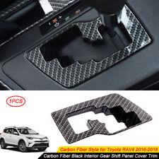 For 2016 2017 2018 Toyota RAV4 Carbon Fiber Interior Gear Shift Frame Cover Trim