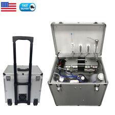 Portable Dental Delivery Unit Mobile Case Air Compressor Three Syringe Suction