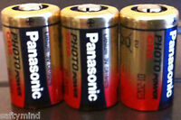 Brand 3 Panasonic Cr2 3 Volts Single Use Battery For Camera, Meter,