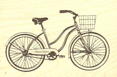 Strand Cruser Bicycle Bike Wood Mounted Rubber Stamp JUDIKINS 3655G NEW