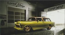 "2016 Classic Car Studio Speed Shop ""Gone Mad"" '55 Chevy Nomad SEMA info card"