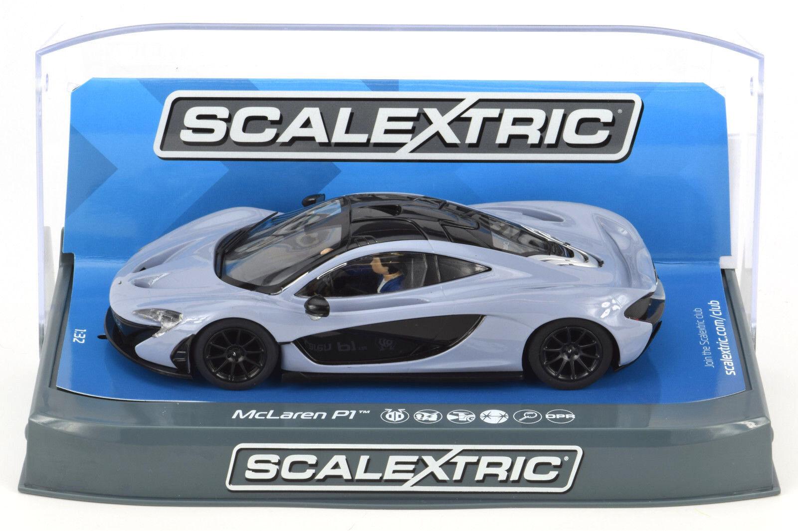 Scalextric Ceramic Grey McLaren P1 DPR W  Lights 1 32 Scale Slot Car C3877