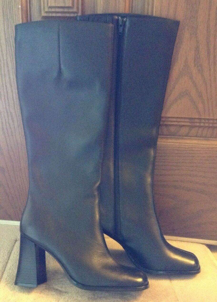 New Women's Newport News Black Leather Boots