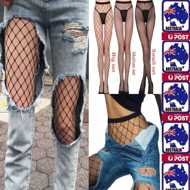 OZ Fashion Women's Mesh Net Fishnet Stockings Pantyhose Black High Waist Tights