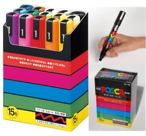 PC5M15C Medium Point Set of 15 Colors by Fedex Japan Uni POSCA Paint Markers
